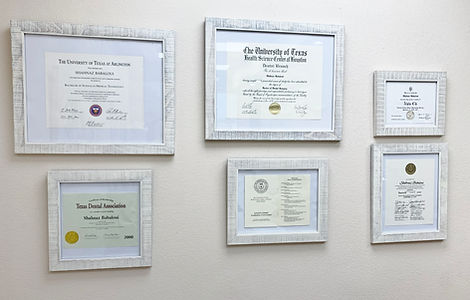 Diplomas, DDS Degree