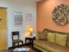 Comfortable dental reception area