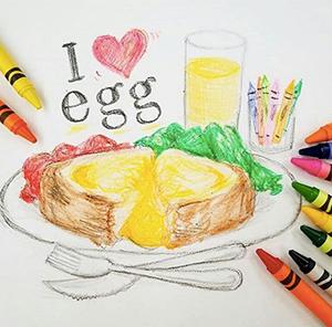 Egg Breakfast Drawing