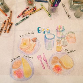 Egg Table Drawing