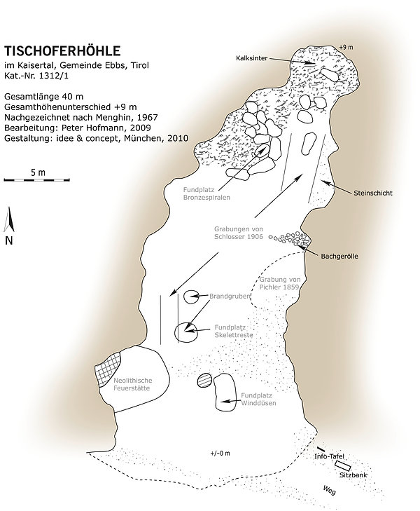 Tischoferhöhle Höhlenplan