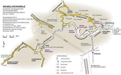 Plan der Wendelsteinhöhle