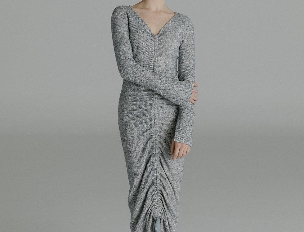 Sissi Elbise/ Gri-mavi