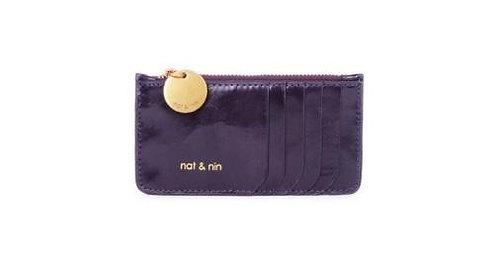 NAT & NIN, porte cartes porte monnaies ALIX, raisin 🍇