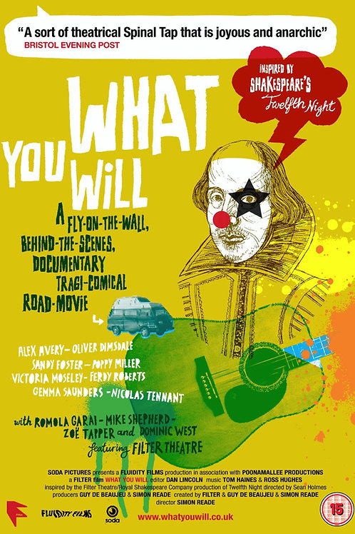WHAT YOU WILL DVD (p&p free in the UK)
