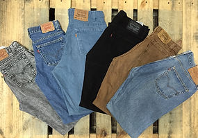 Premium quality Levis jeans sold by bulk for import or export.