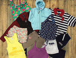 Premium quality kids used clothing sold by bulk in 100 pound bales for export.