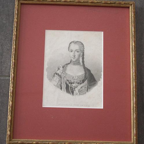 Alter Stich Porträt Isabella von Parma