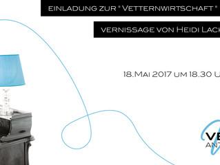 Vernissage von ORF-Lady Heidi Lackner-Prinz bei Antiquitäten Vetter am 18. Mai
