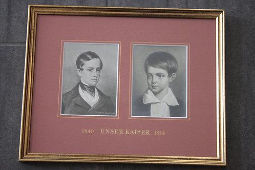 Unser Kaiser 1844+1849 Kaiser Franz Josef vom k.k. Hoffotograph C. Scolik sen.