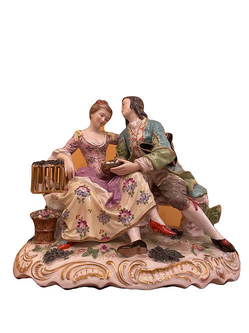 Wunderschöne italienische Figurengruppe, Richard Ginori um 1900