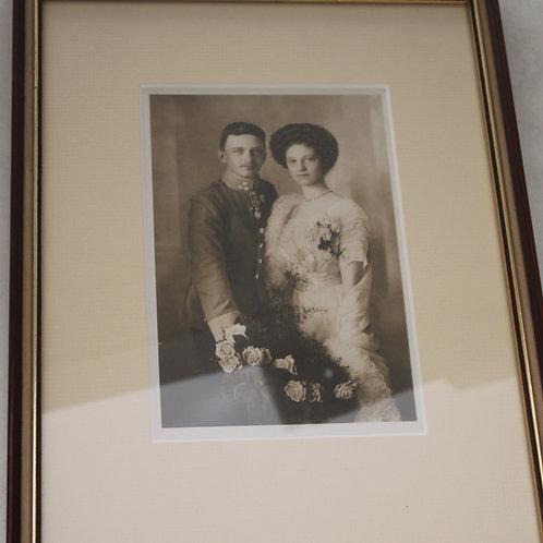 Thronfolger Paar- Carl Josef und Zita Hochzeitsfoto