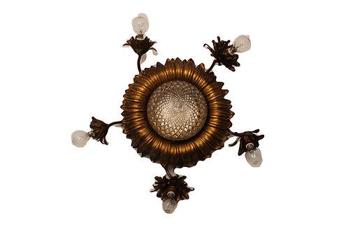 Alte Deckenlampe Sonnenblume