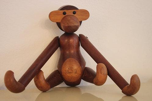 Vintage Affe aus Teak von Kay Bojesen