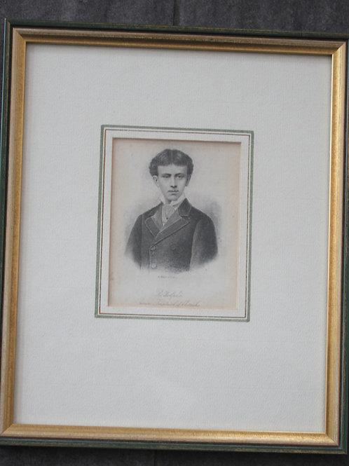 Rodolphe prince Imperial d'Autriche Originalstahlstich nach einer Photographie.