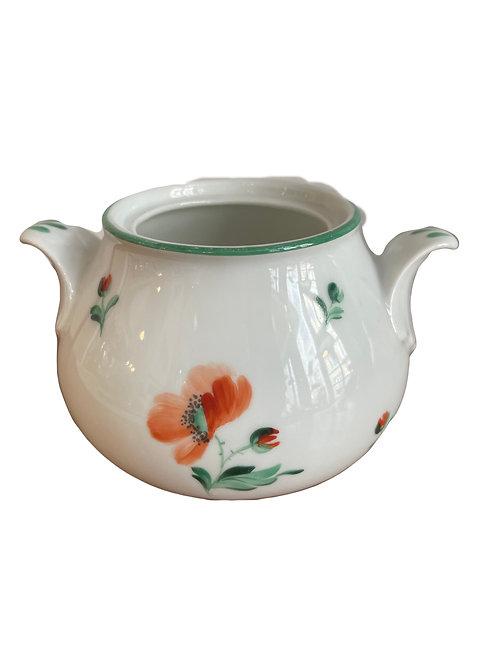 Augarten Porzellan Mohnblume Zuckerdose ohne Deckel