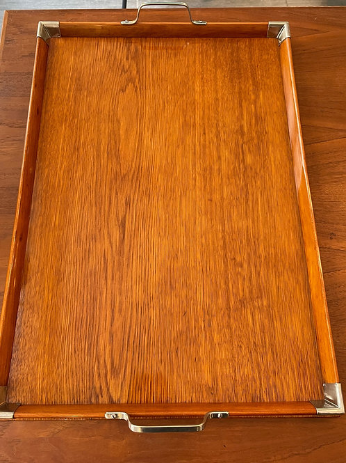 Schönes Holz Tablett um 1900
