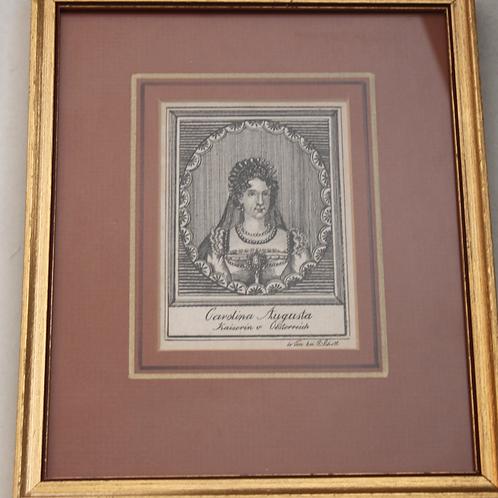 Carolina Augusta Kaiserin v. Oesterreich Orig. Kupferstich