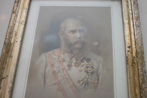 Alter Farbdruck Postkarte Kaiser Franz Josef, Eduard Hölzel Wien