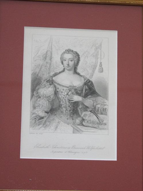 Elisabeth Christine de Brunswick Wolfenbüttel impératrice d'allemagne
