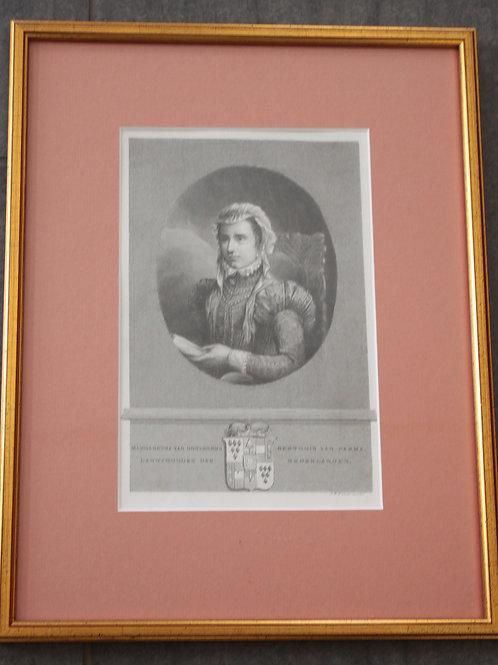 Alter Stich Margaretha von Österreich Herzogin von Parma