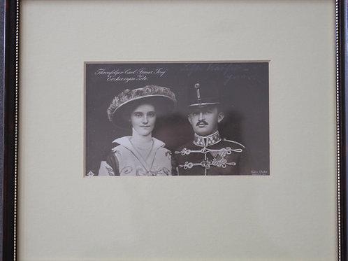 Thronfolger Paar- Carl Josef und Zita Postkarte / Foto