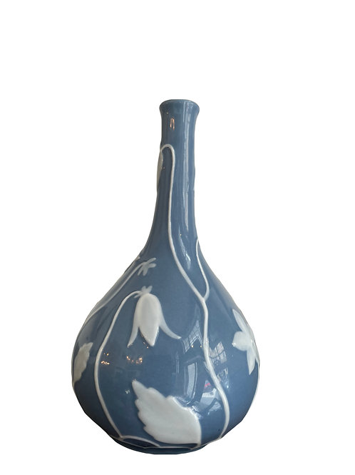 Herend Pate sur Pate Relief Blumen Vase