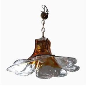 Deckenlampe aus Murano Glas von Carlo Nason für Mazzega, 1960er