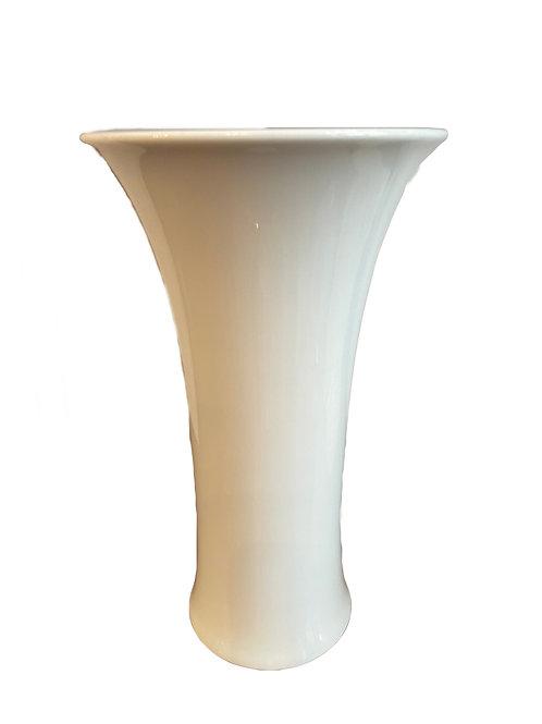 Augarten Porzellan Vase, weiss