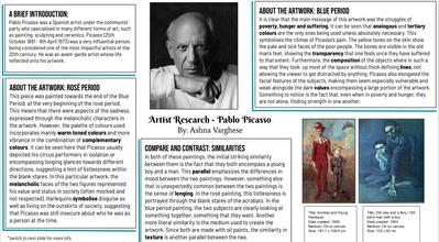 Page 1 Grade 8 Interpreting Art and Contextual Anlaysis
