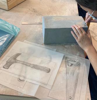 Grade 8 Preparatory sketch and clay box