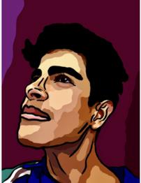 Grade 8 Digital Portrait inspired by Alex Katz