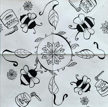 Grade 6 repeat pattern textile design
