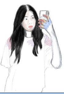 Grade 8 Portrait indspired by Esra Rose