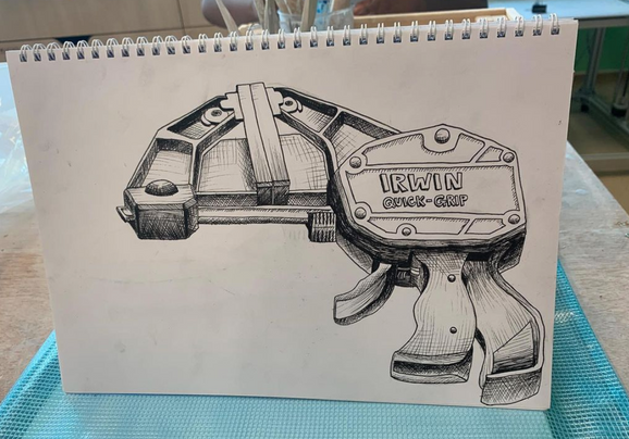 Grade 8 Preparatory sketch for clay box