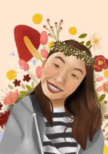 Grade 8 Digital Portrait inspired by Elena Garnu