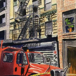 Red Truck, Lower East Side, Manhattan