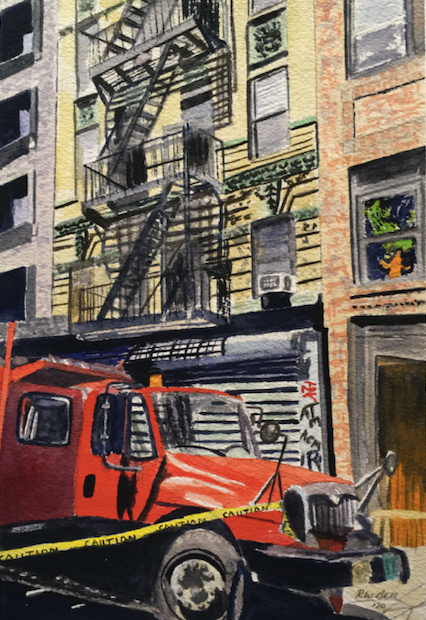 Red Truck, Lower East Side, Manhattan