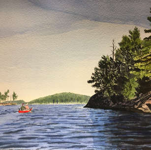 Red Canoe, Lake Kipawa, Quebec