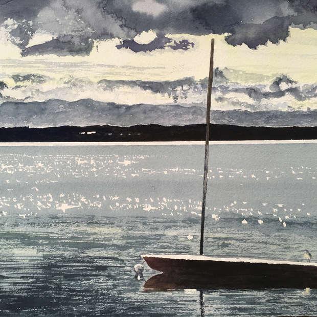 Sailboat at Anchor, De Grassi Point
