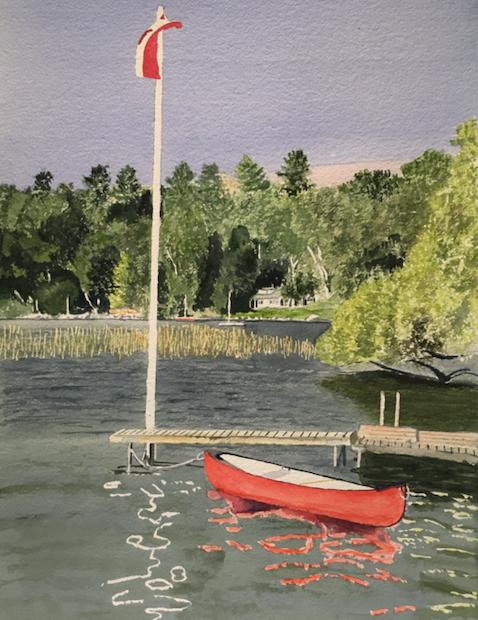 Red Canoe, Lake Simcoe