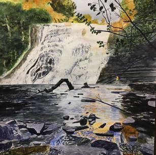 Ithaca Falls at Sunset