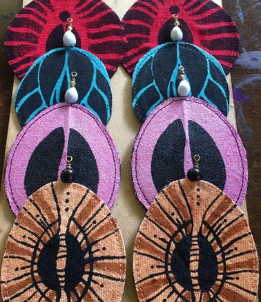 Eco-Art Textile Earrings