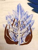 painting of hands representing community growth via Wisdom Circles program devlopment hawaii