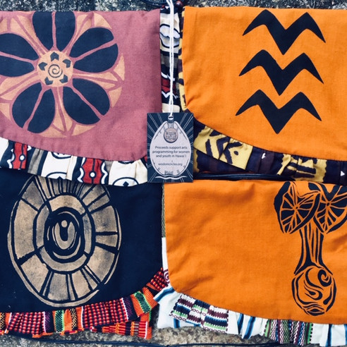 Printed Textile Purses