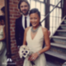 Brooklyn, bride, bead, bouquet, torsade, Chloe + Isabel, ChloeandIsabel, industrial