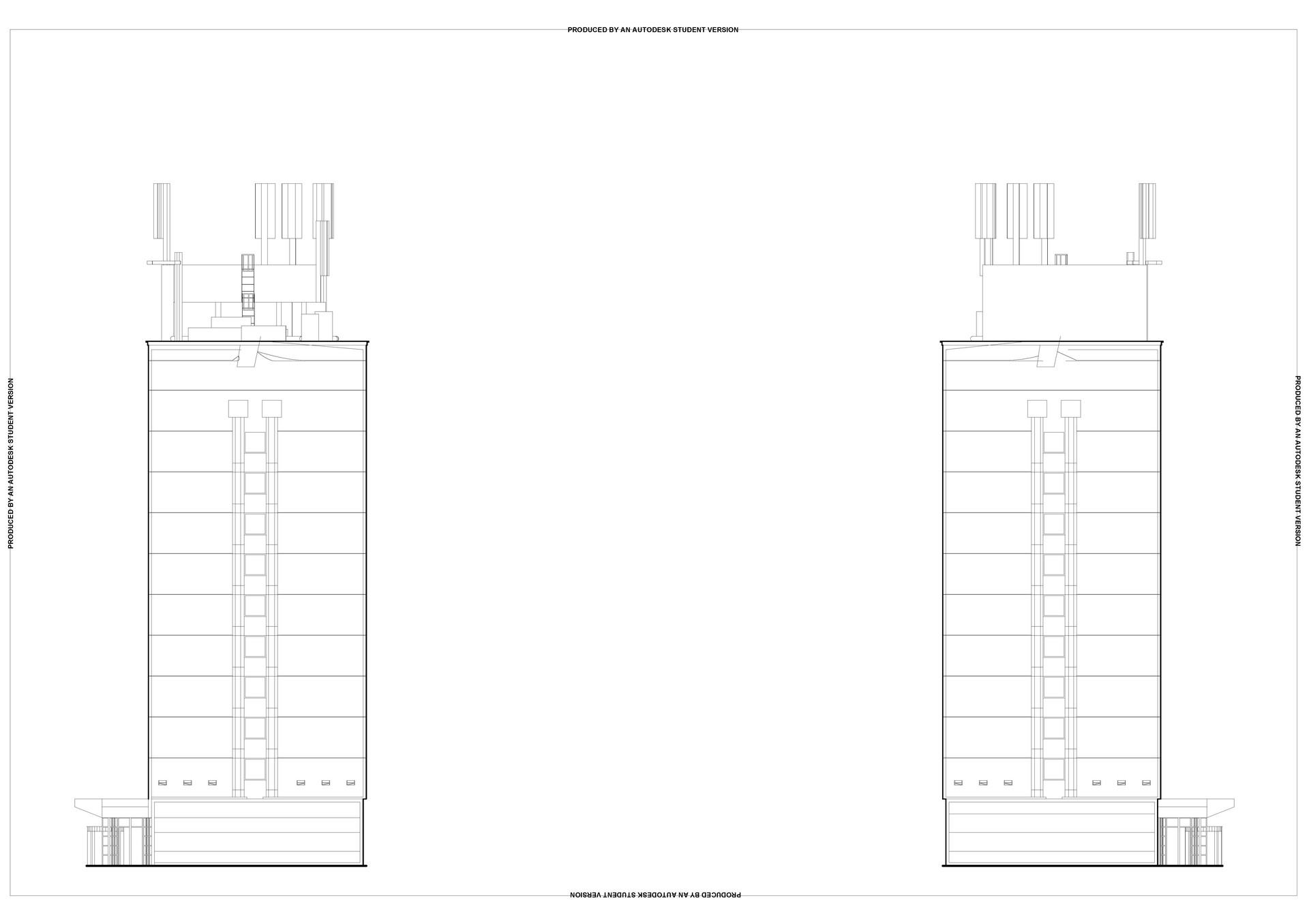 SIDE ELEVATIONS, 1:100