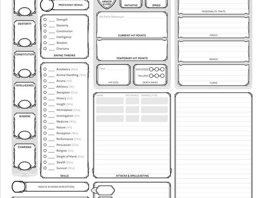 EGD Adventures: Character Creation Guide (D&D 5E)