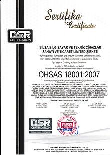 BİLSA BİLGİSAYAR OHSAS 18001_2007 İŞ SAĞ