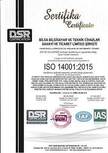 BİLSA BİLGİSAYAR ISO_14001_2015 ÇEVRE YÖ